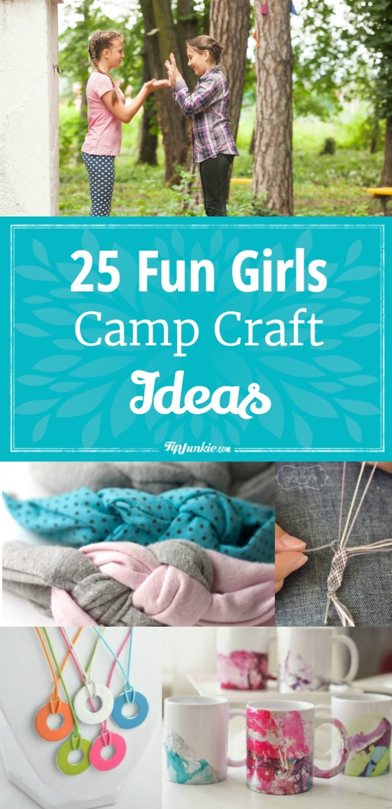 25 Fun Girls Camp Craft Ideas