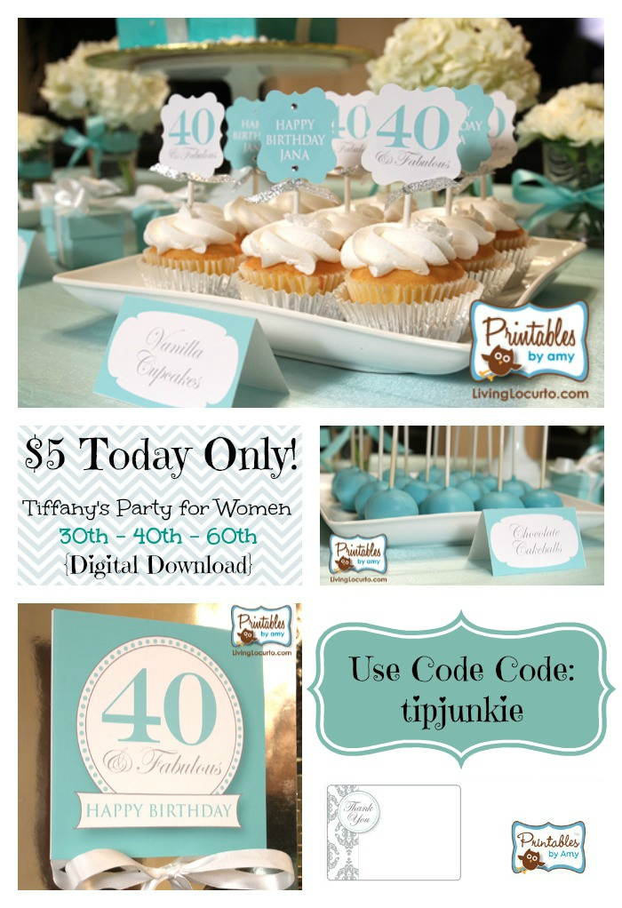 Tiffany Inspired Party for Women 30th - 40th - 60th {Digital Download}