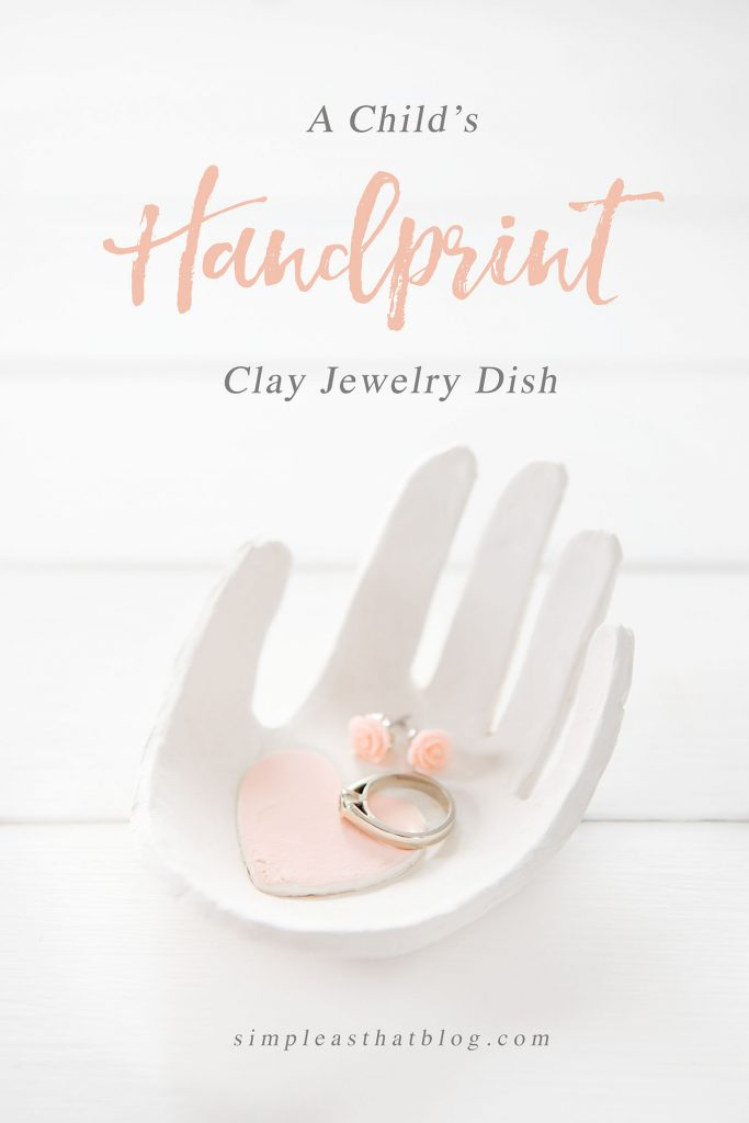 Child's Handprint Clay Jewelry Dish