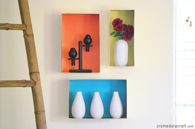 Inspirational  DIY Wall Shelves Dress up your walls with some sturdy shoeboxes paint and pretty paper Your wallet will be thanking you while you are admiring your