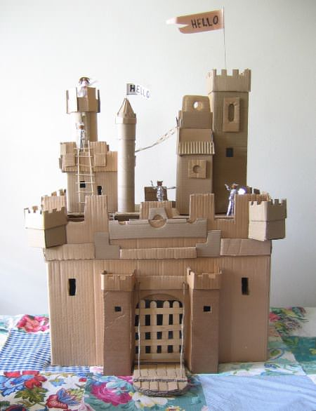 Castle One And Two Amazing Cardboard Castles Made For A Window Display Store Owner They Are Seriously So Impressive Would Make An