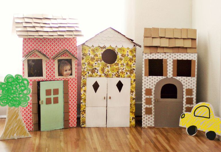 DIY Cardboard Playhouses