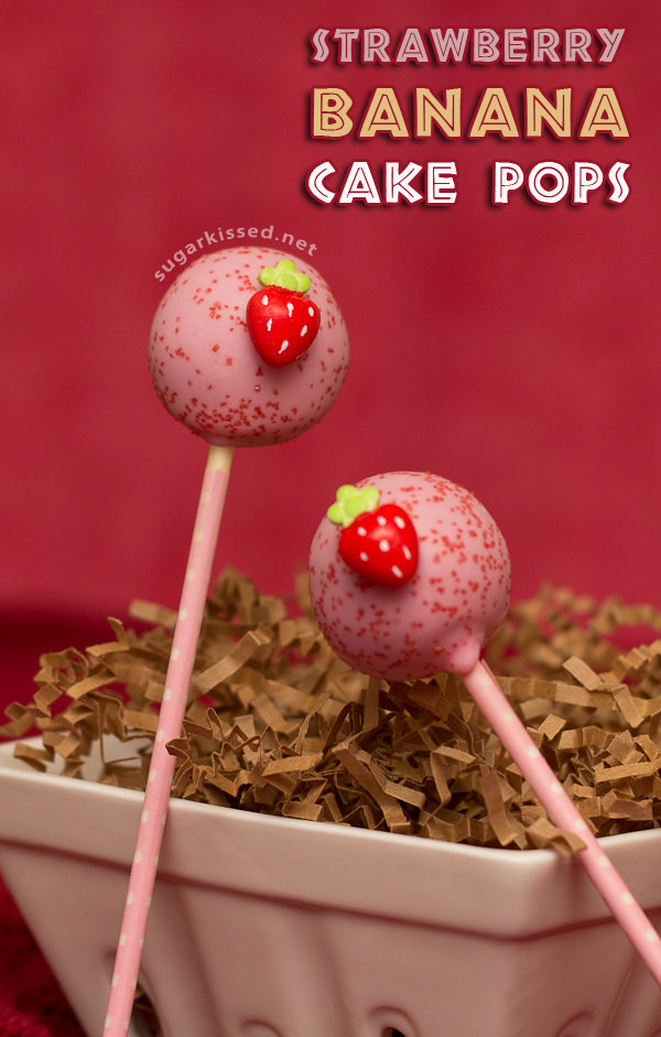 Strawberry Banana Cake Pops 25