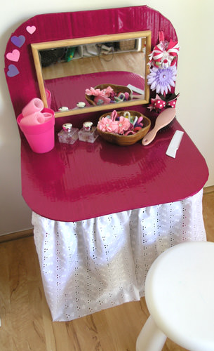 Cardboard Dressing Table