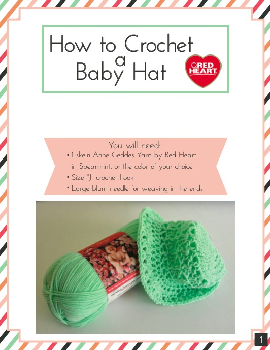 Learn crochet baby hat