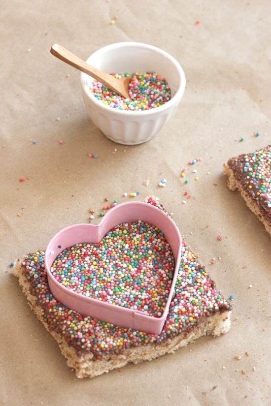Chocolate Fairy Bread Hearts