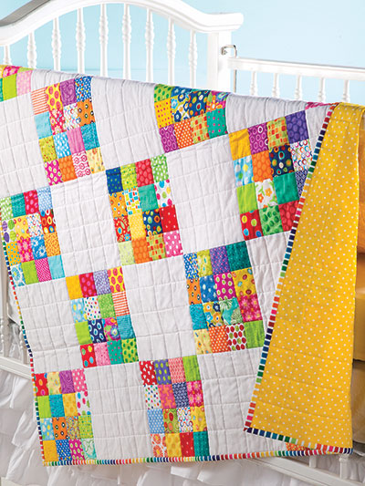 How to Make a Colorful Baby Quilt from Fabric Scraps