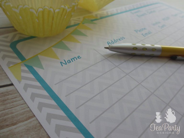 Printable Party Planner 3