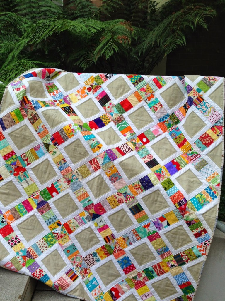 Squares Scrap Quilt Pattern and Tutorial