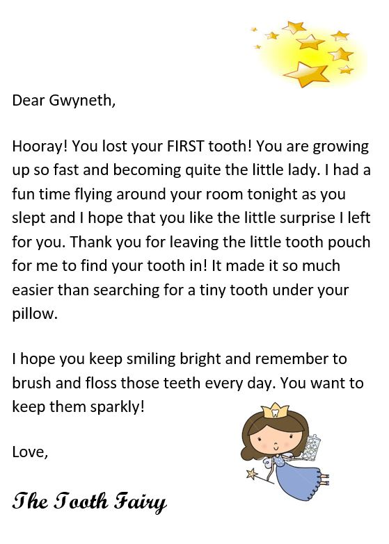 It is a graphic of Epic Tooth Fairy Letter Printable