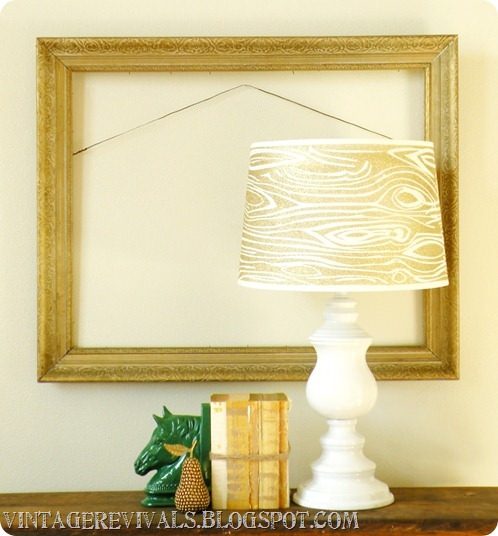 22 pretty ways to makeover lamp shades tip junkie glitter faux woodgrain lampshade diy light here is an incredibly unique project using a wood grain stencil lamp shade and glitter spray paint greentooth Gallery