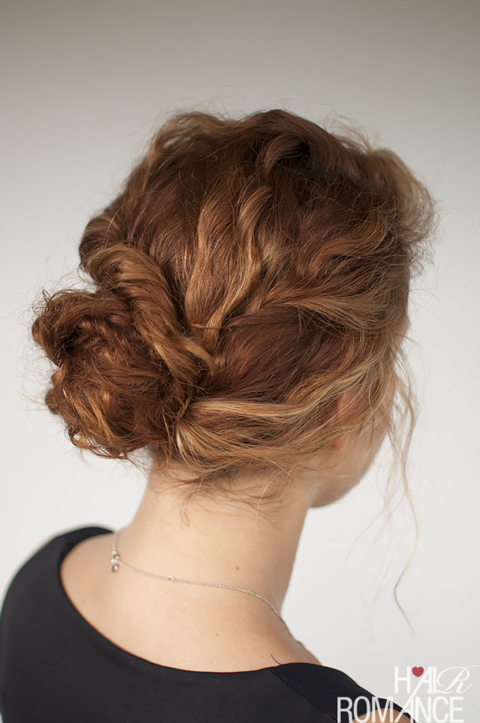 Curly Twisted Bun