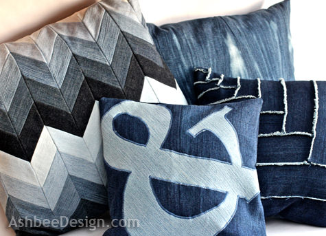 DIY Denim Pillows