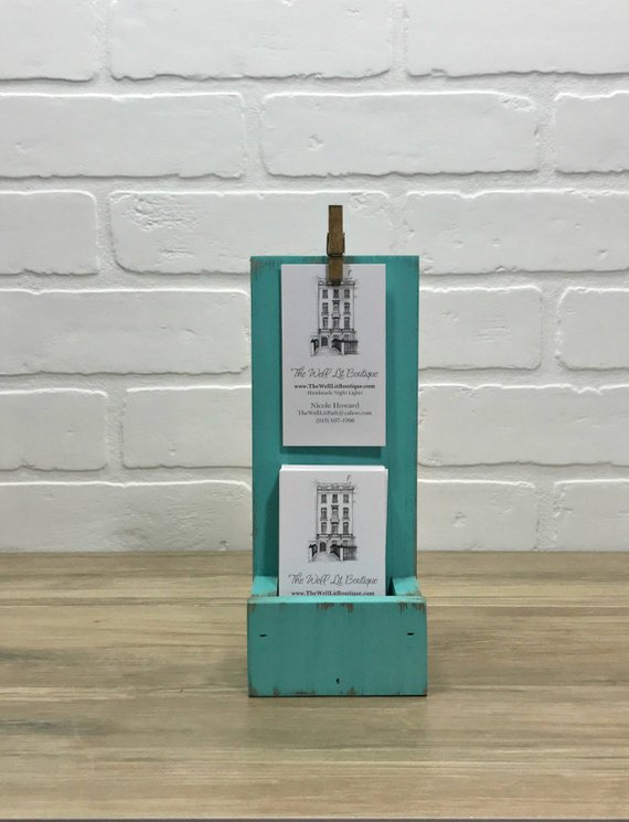 Farmhouse Vertical Business Card Holder Display