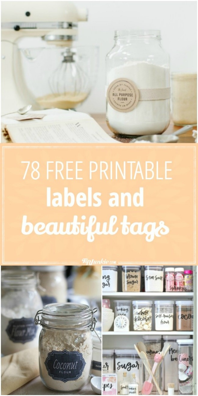 Organize and enrich your life with these 78 Free Printable Labels and Tags!