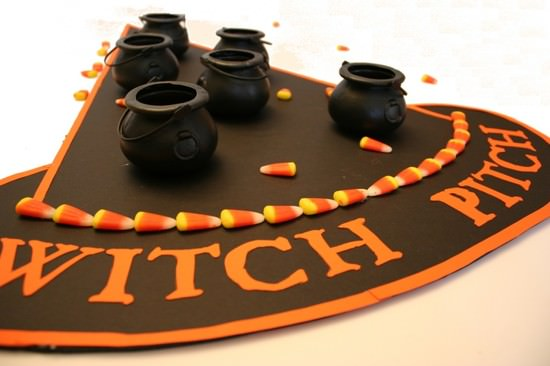 Witch pitch witch hat halloween game