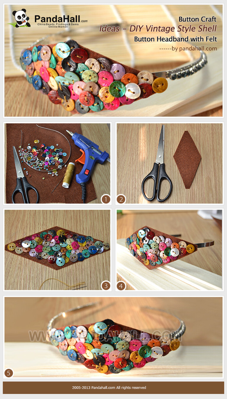 Button Craft Ideas - DIY Vintage Style Shell Button ...