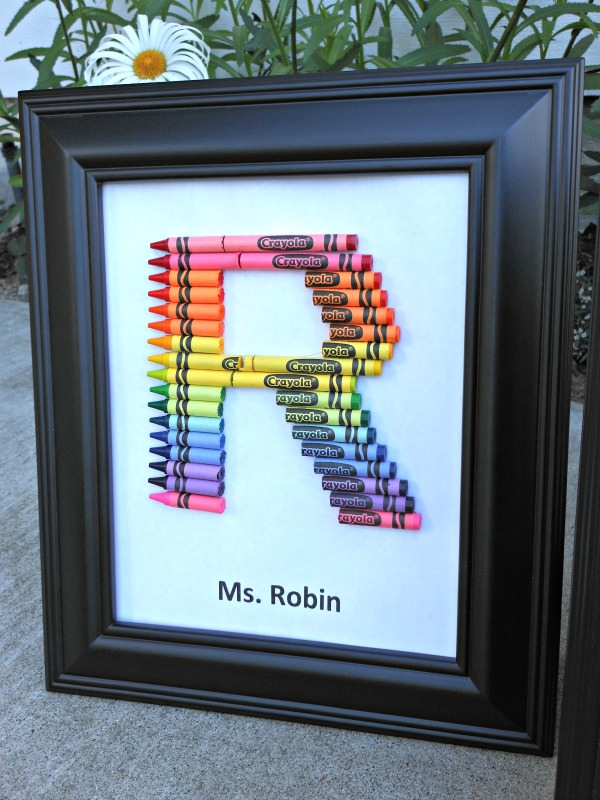 Homemade teacher gifts – How to make a crayon monogram (2)-jpg