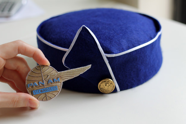 If You Want To Sew A Pill Box Hat Using Fabric Check Out How Make 1963 Pan Am Inspired Stewardess With Pictured Step By Instructions On