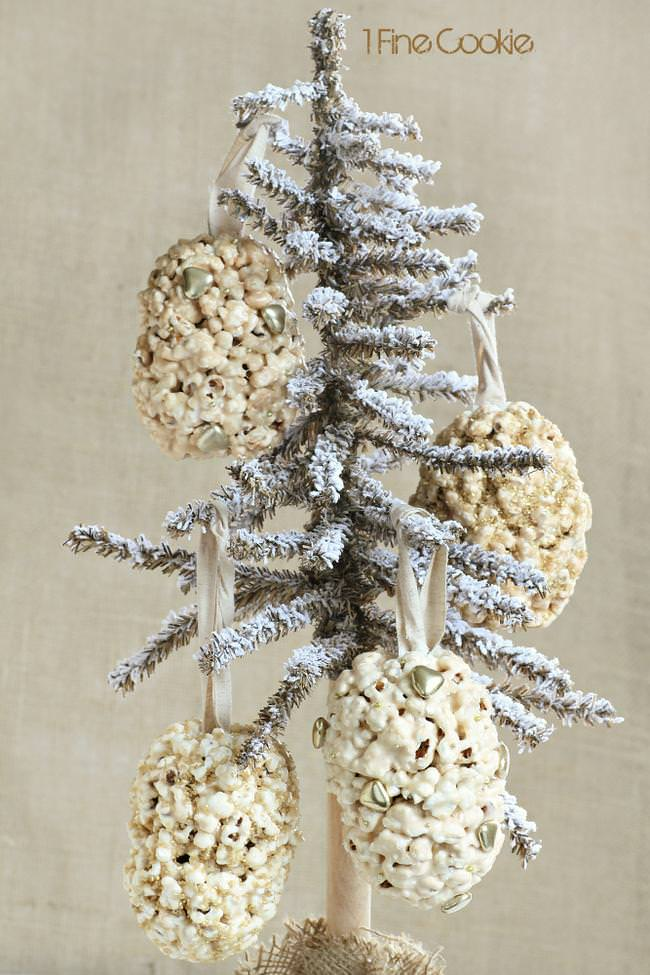 popcorn ball holiday ornaments by 1 Fine Cookie-jpg