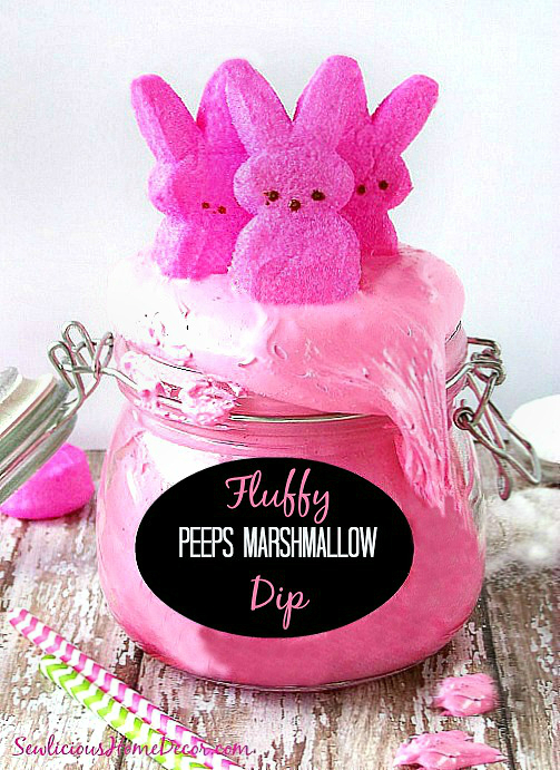Pink-and-Fluffy-Peeps-Marshmallow-Cream-Dip