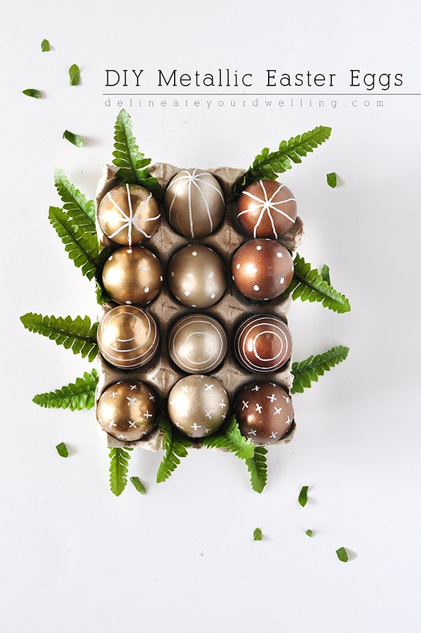 DIY Metallic Easter Eggs with Spray Paint