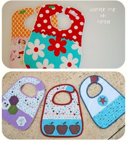 Baby Bib Tutorials for Baby Shower GIft Ideas