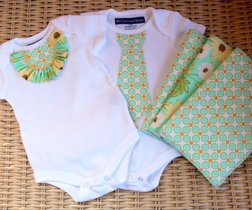 Baby Onesie Fabric Appliques for Baby Shower Gift