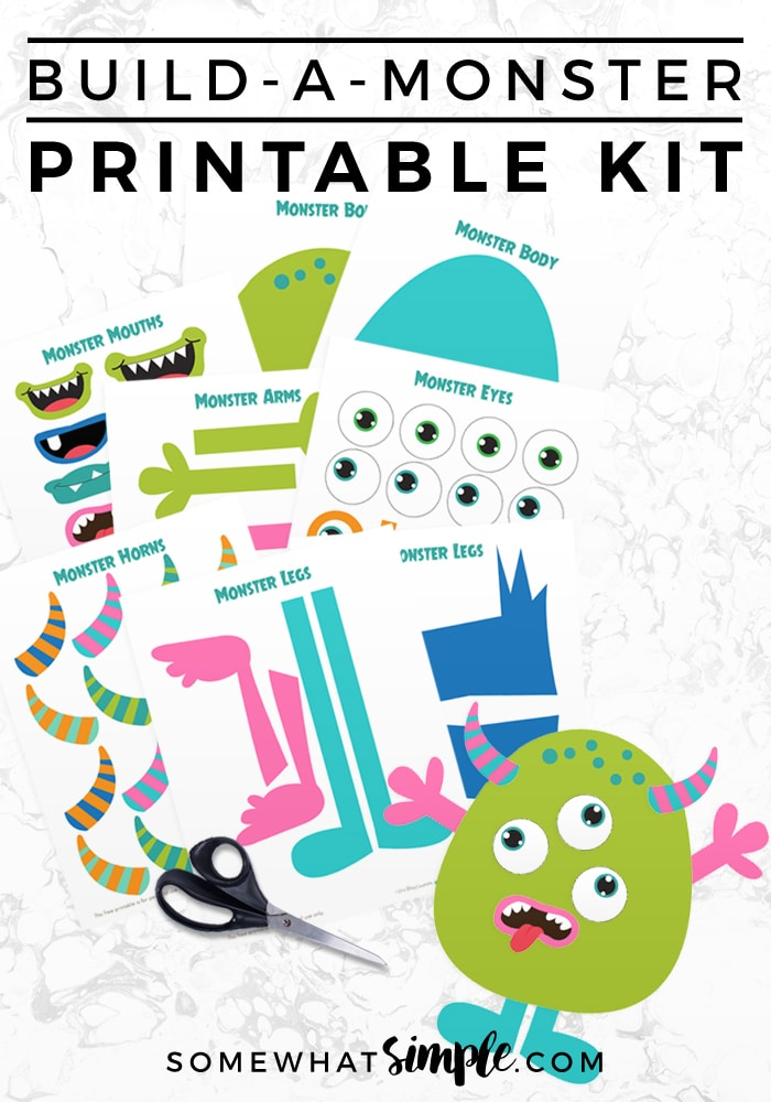 build a monster printable kit