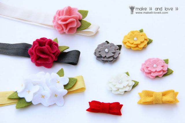 felt hair accessories for girls