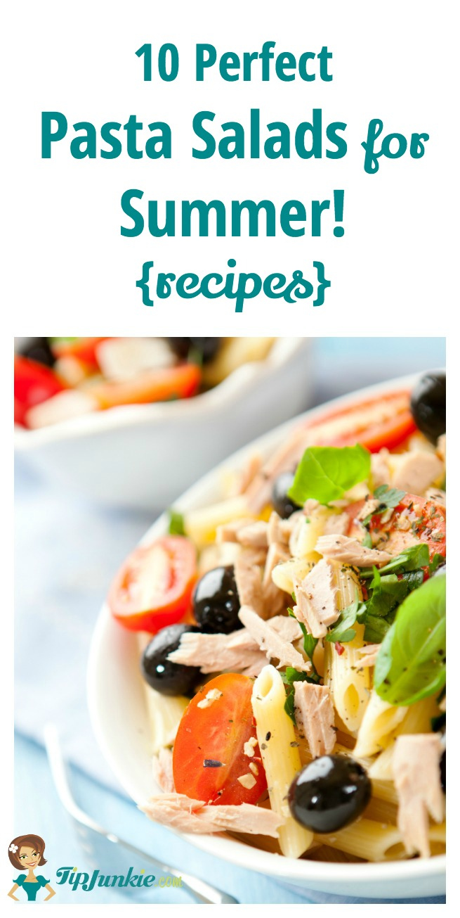 These 10 Perfect Pasta Salads for Summer {recipes} are amazing!!