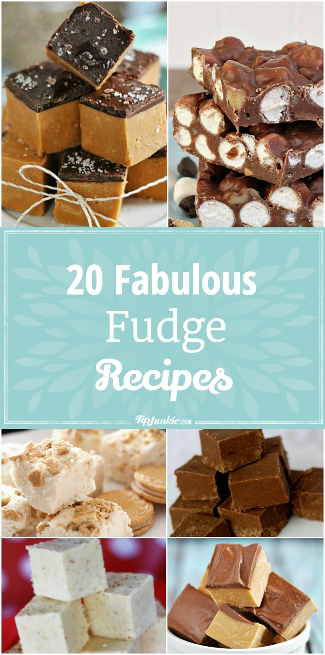 20 Fabulous fudge recipes for the holiday season. Makes a great homemade gift!