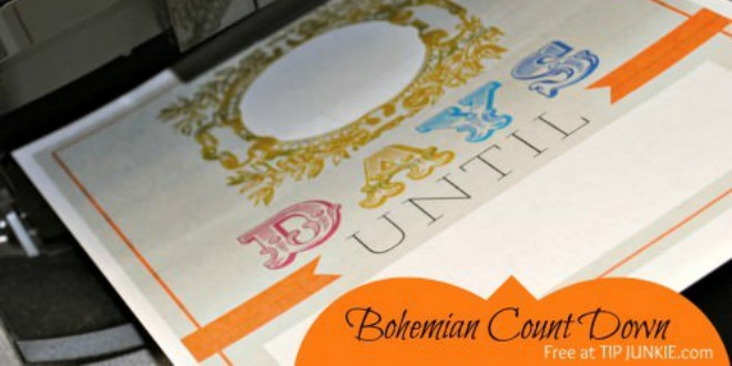Bohemian Count Down Template [instant download] by Tip Junkie