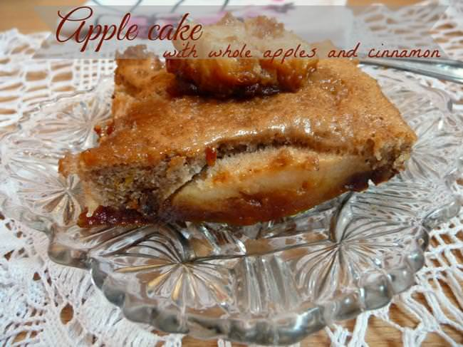 Apple cake with cinnamon and whole apples-jpg
