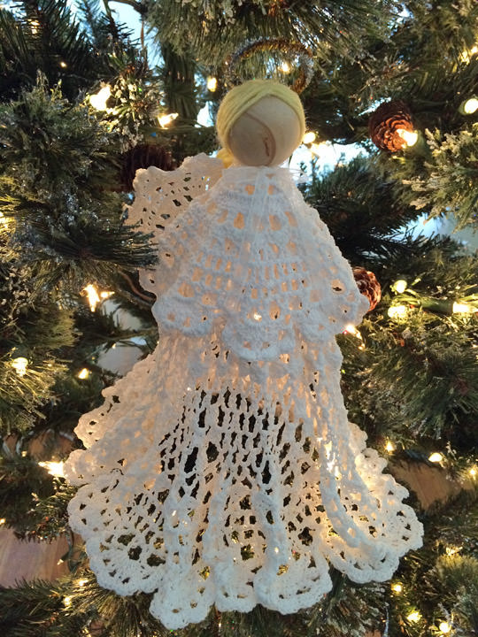 How to Make a Starched Doily Angel Christmas Tree Topper | Tip Junkie