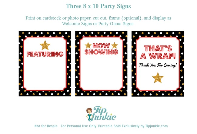 Birthday Signs_Hollywood Party_TipJunkie-png
