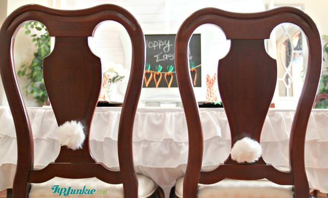 Bunny Tail Chairs for Easter on Tip Junkie