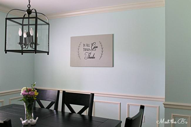 easy diy painted canvas dining room wall art tutorial tip junkie. Black Bedroom Furniture Sets. Home Design Ideas