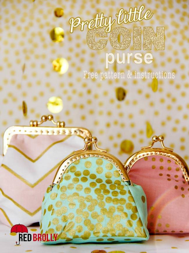 Free coin purse pattern to sew