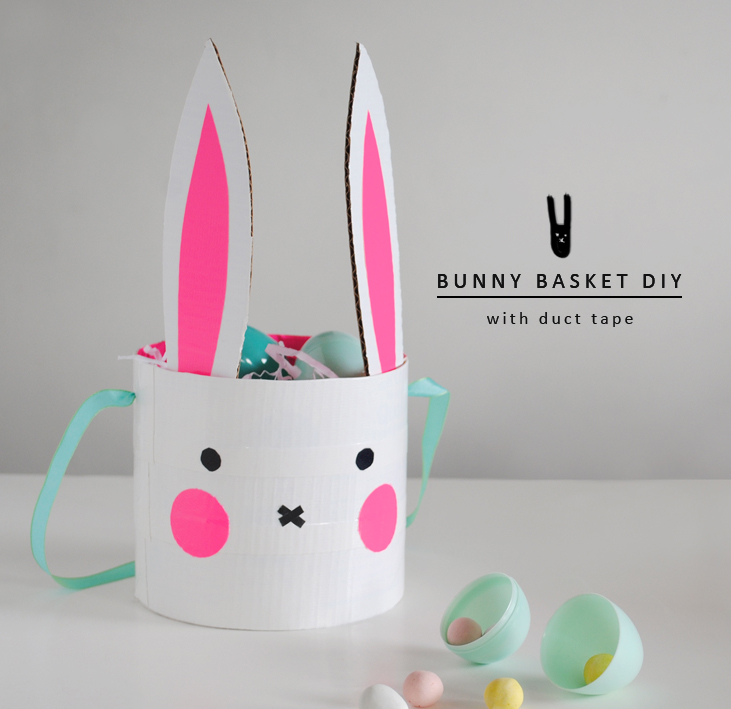 DIY Bunny Basket with Duct Tape