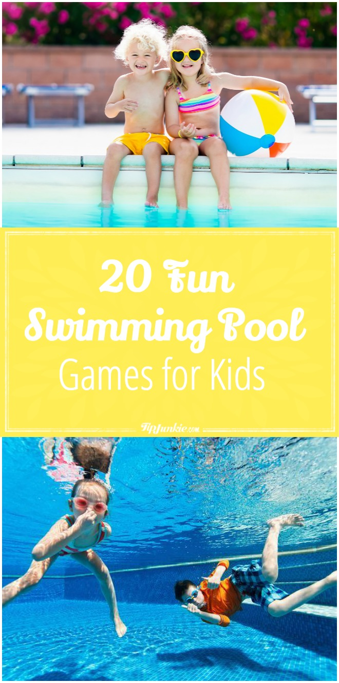 Your kiddos won't get bored swimming with these 20 Fun Swimming Pool Games for Kids! Perfect for parties, too!