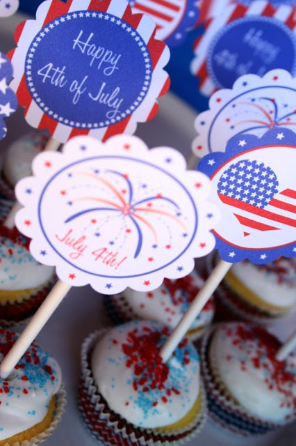4th of July Party Free Printable Party Kit