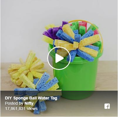 DIY Sponge Ball Water Tag