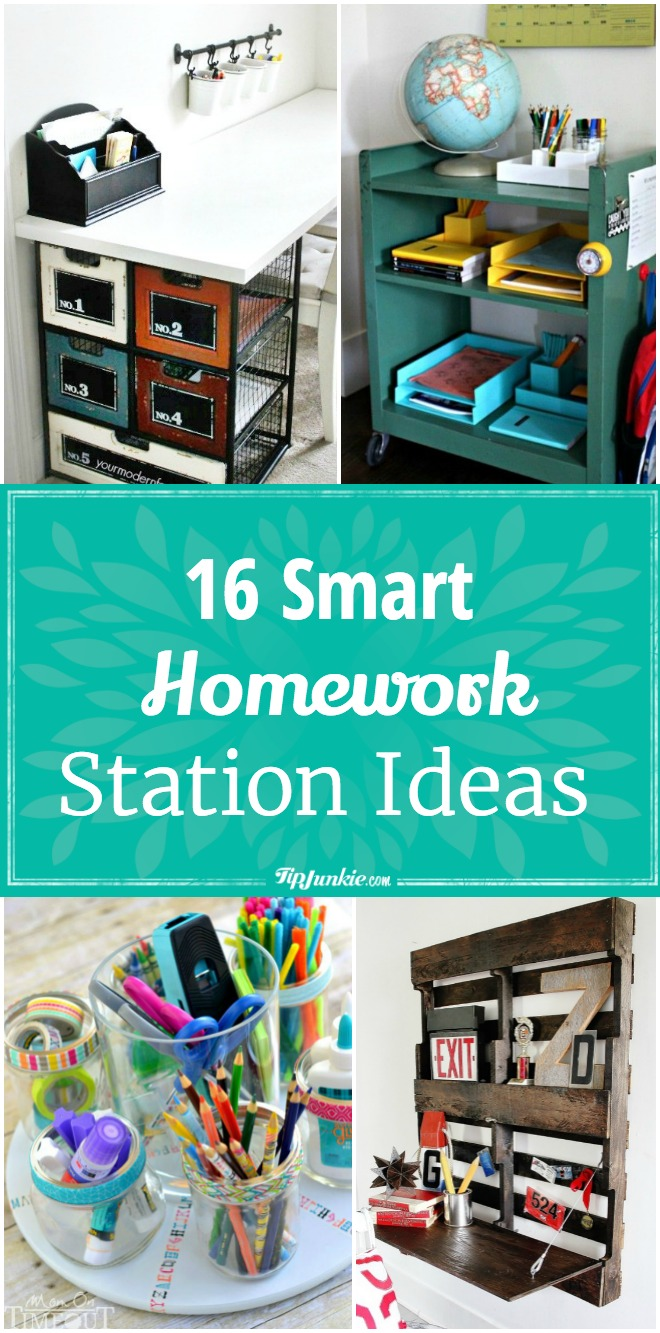 16 Smart homework station ideas so your child can successfully complete their work!