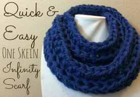 Quick and Easy One Skein Infinity Scarf
