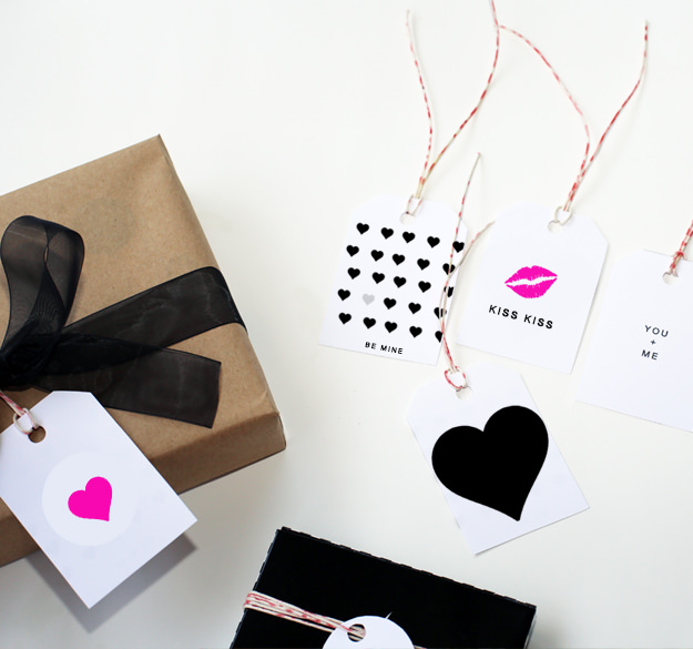 Modern Valentines Day Gift Tags Tip Junkie