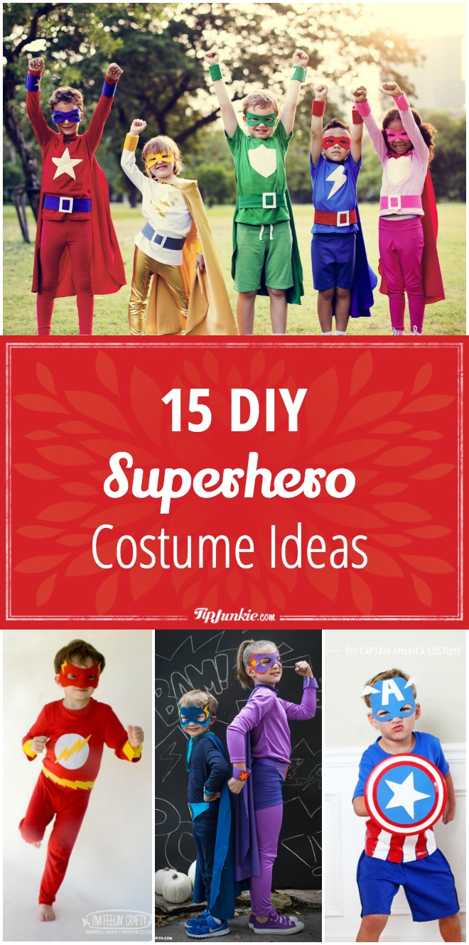 15 DIY superhero costume ideas your kids will love! Fun for boys and girls!  sc 1 st  Tip Junkie & 15 DIY Superhero Costume Ideas | Tip Junkie