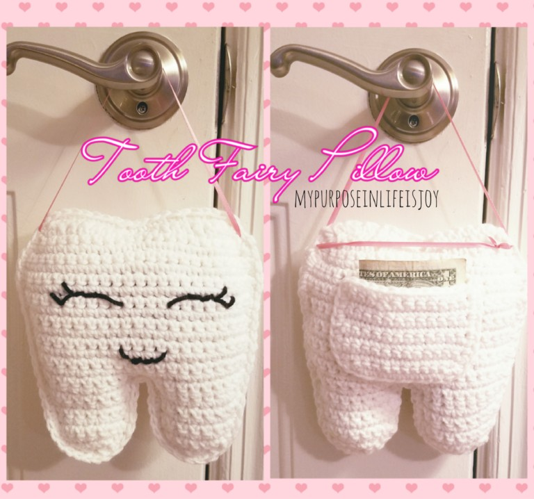 Crochet Tooth for a Lost Tooth Pillow