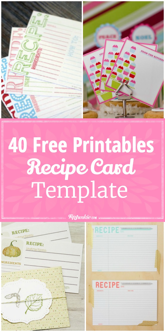 40 Free Printable Recipe Card Templates. Makes Dinner Time A Snap!  Free Recipe Templates