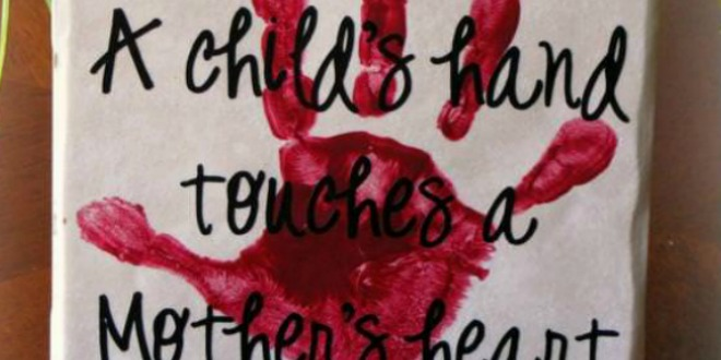 Child's Handprint Mother's Day Gift
